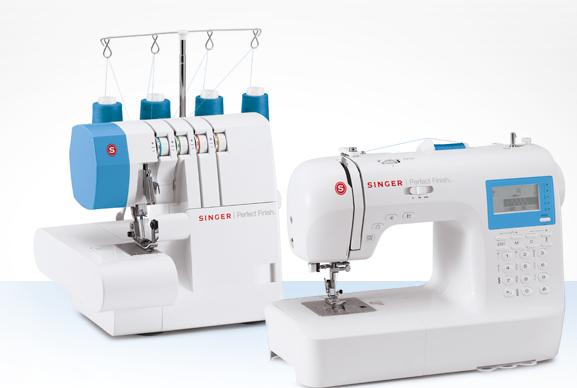 two singer sewing machines 14 new overlock 4 thread